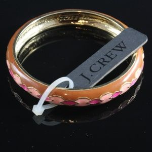 NWT! J. Crew Argyle Enameled Bangle Bracelet